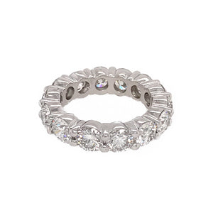 Diamond Eternity Wedding Band. METAL TYPE: Platinum TOTAL WEIGHT: 8.4 grams RING SIZE: 5 STONE WEIGHT: 4 ct twd REFERENCE NUMBER: 16163-2-YRVV