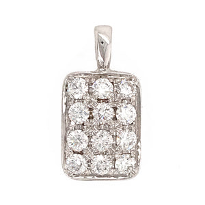 Beautiful 18k White Gold Diamond Pendant