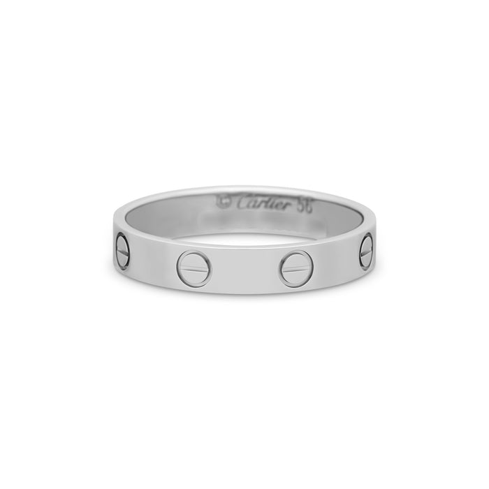 Cartier Platinum Love Ring Size 7.75
