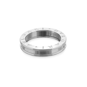 Bvlgari 18K White Gold B.Zero1 One Band Ring Size 9.50