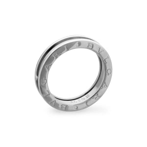 Bvlgari 18K White Gold B.Zero1 One band Ring Size: 7.5