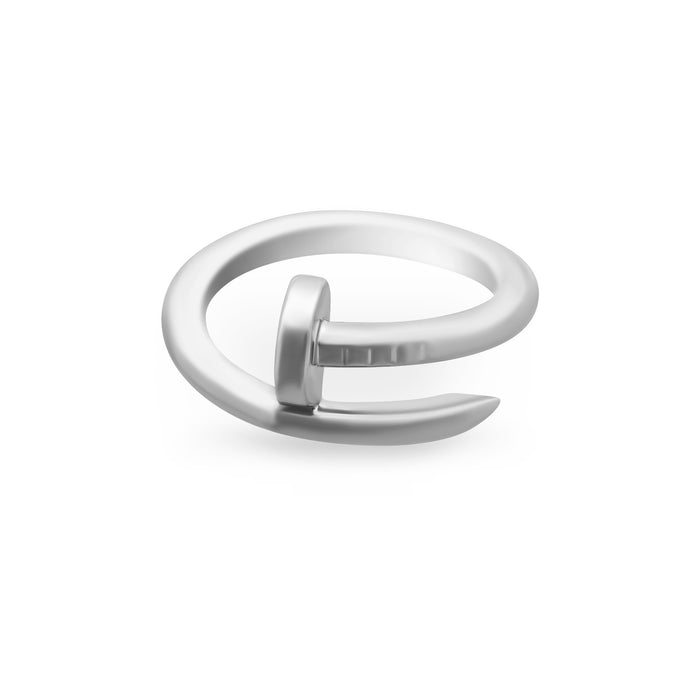 "Cartier 18K White Gold ""Juste Un Clou"" Ring Size: 6"