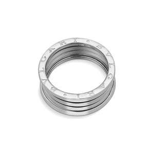Bvlgari 18K White Gold B.Zero1 4 Band Ring Size: 10.5