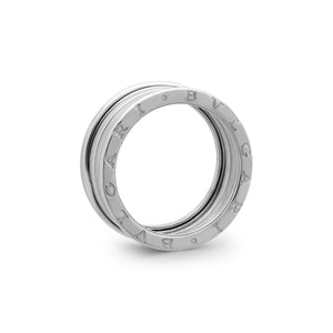 Bvlgari 18K White Gold B.Zero1 4 Band Ring Size: 10