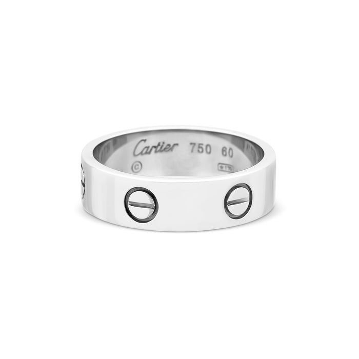 Cartier 18K White Gold Love Ring Size: 9