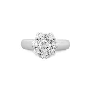 Estate Platinum Diamond Flower Ring Size: 6