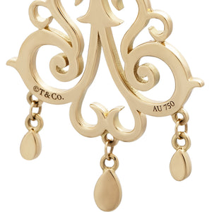 "Tiffany & Co. 18K Yellow Gold ""Enchant"" Drop Earrings"
