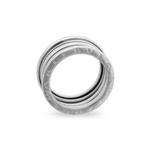 Bvlgari 18K White Gold B.Zero1 3 band Ring Size: 7.25