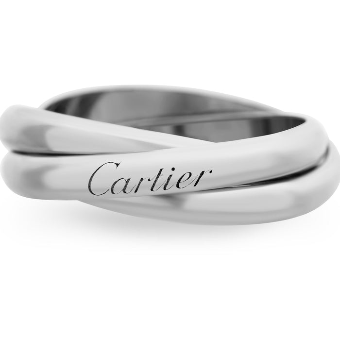 "Cartier 18K White Gold ""Trinity"" Ring Size: 9.5"