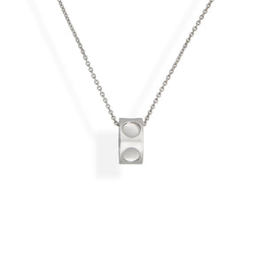 "Louis Vuitton 18K White Gold ""Empreinte"" Pendant Necklace Length: 16.5"""