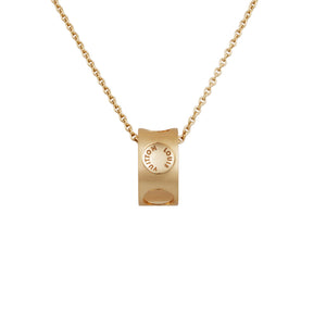 "Louis Vuitton 18K Yellow Gold ""Empreinte"" Pendant Necklace Length: 17.5"""