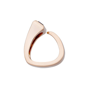 Hermes 18K Rose Gold Purple Amethyst Ring Size: 5