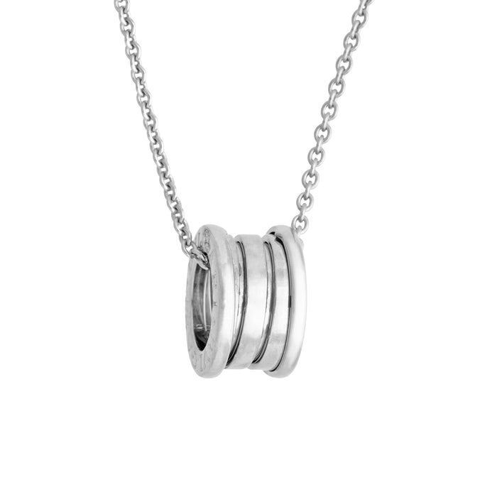 Bvlgari 18K White Gold B. Zero1 Necklace Length 16 inches