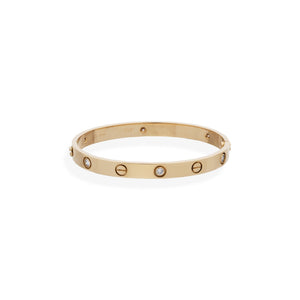 Cartier 18K Yellow Gold 6 Diamond Love Bracelet Size: 17 cm