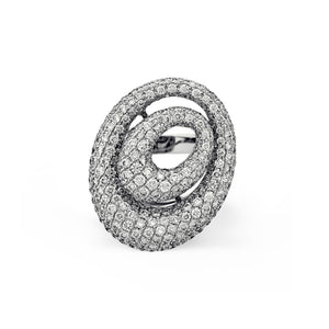 Estate 18K White Gold Diamond Ring Size: 6.25