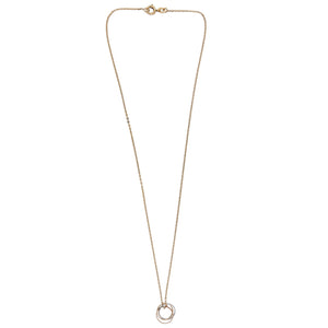 Cartier 18K Yellow, White & Rose Gold Trinity Necklace Length: 16""