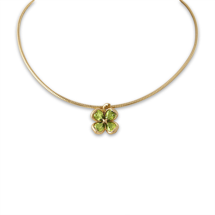 Chanel 18K Yellow Gold  Peridot Necklace