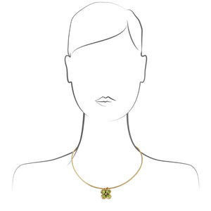 Chanel 18K Yellow Gold  Peridot Necklace Length: 16""