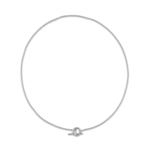 Hermes 18K White Gold Mini Chaine D'Ancre Necklace Length: 15""