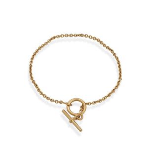 Hermes 18K Yellow Gold Mini Chaine D'ancre Bracelet Length: 6.5""