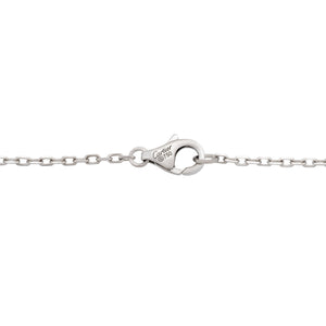 Cartier 18K White Gold Diamond Love Necklace Length: 15""