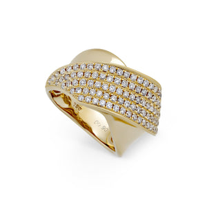 Estate 18K Yellow Gold Diamond Ring Size 6.2