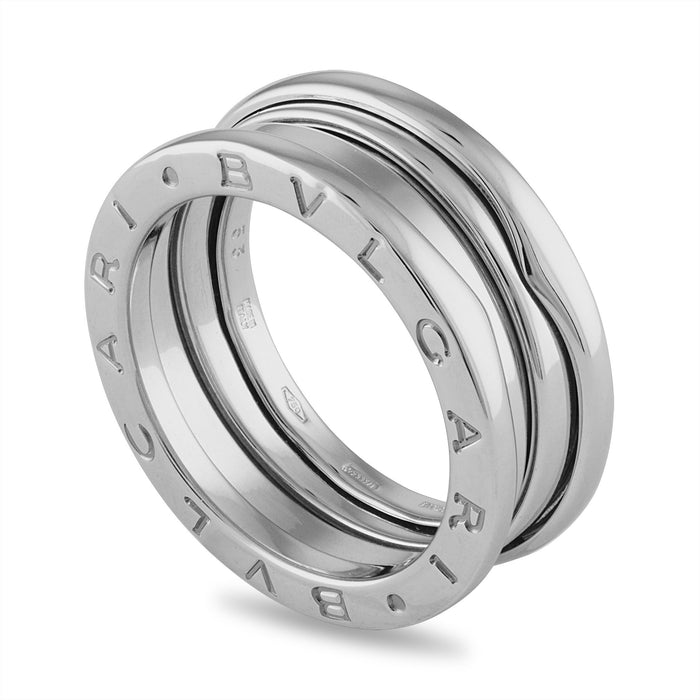 Bvlgari 18K White Gold B.Zero 3 Band Ring Size 6.25