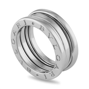 Bvlgari 18K White Gold B.Zero1 Three Band Ring Size: 5.75