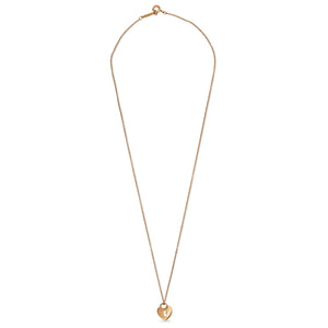 Tiffany & Co. 18K Rose Gold Lock Heart Pendant Necklace Length: 16""
