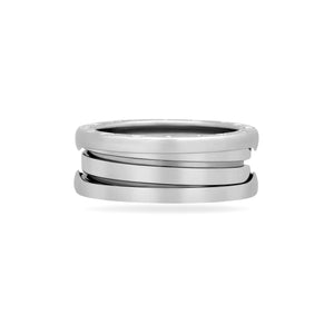 Bvlgari 18K White Gold B.Zero1 1 Band Ring Size 6