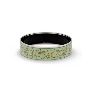 Hermes Enamel Stainless Steel Celestial Bangle Length: 7.7""