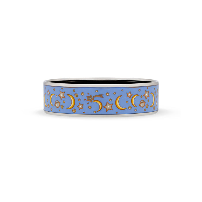 Hermes Enamel Stainless Steel Celestial Bangle