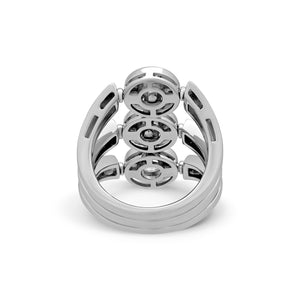Bvlgari 18K White Gold Diamond Ring Size 5