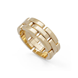 Cartier 18K Yellow Gold Maillon Panthere Ring Size: 9.5