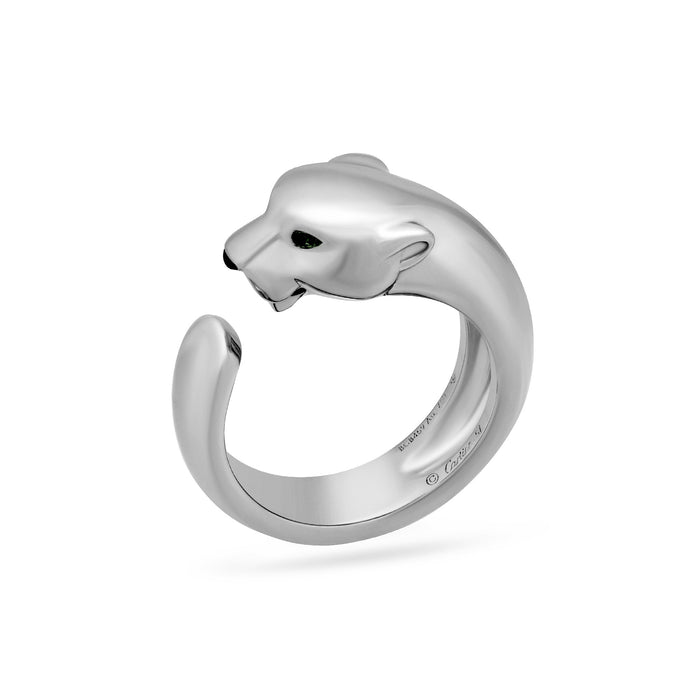 Cartier 18K White Gold Panthere de Cartier Ring Size 8