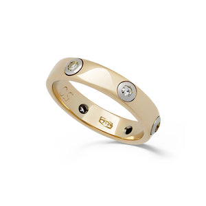 Cartier 18K Yellow & White Gold Diamond Ring Size: 5.25