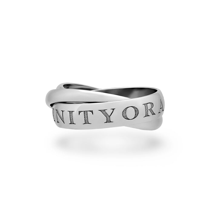 Cartier 18K White Gold Trinity Ring Size: 8.25