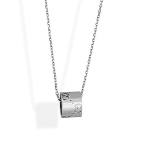 Gucci 18K White Gold Icons Necklace Length: 16""