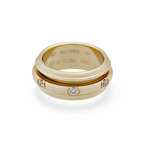 Piaget 18K Yellow Gold Diamond Ring Size: 6.75
