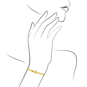 Tiffany & Co. 18K Yellow Gold Interlocking Bracelet Length: 16 cm