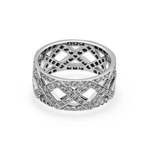 Tiffany & Co. Platinum Diamond Ring Size: 7