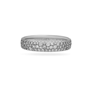 Tiffany & Co. 18K White Gold Diamond Ring Size: 8