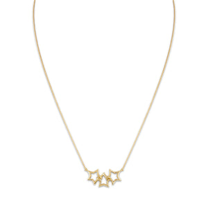 Tiffany & Co. 18K Yellow Gold Star Necklace Length: 18""