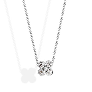 Tiffany & Co. Platinum & Diamond Flower Pendant Necklace Length: 15""