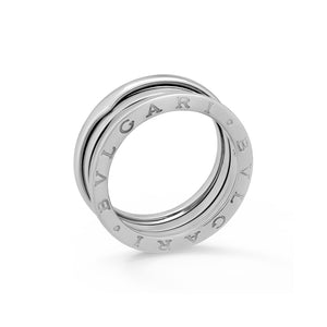 Bvlgari 18K White Gold B.Zero 3 Band Ring Size: 9