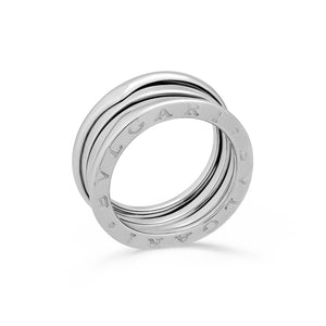 Bvlgari 18K White Gold B.Zero 3 Band Ring 6.75