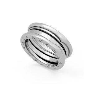 Bvlgari 18K White Gold B-Zero 3 Band Ring Size: 5.25
