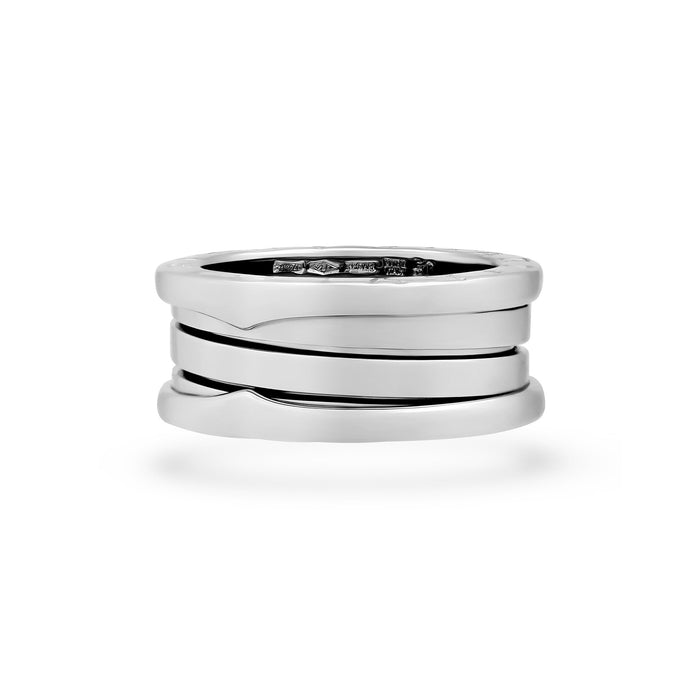 Bvlgari 18K White Gold B.Zero 3 Band Ring Size 5.25