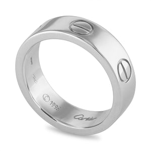 Cartier 18K White Gold Love Ring Size: 6