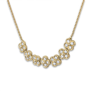 Van Cleef & Arpels 18K Yellow Gold Rope Link Diamond Necklace Length: 15.5""